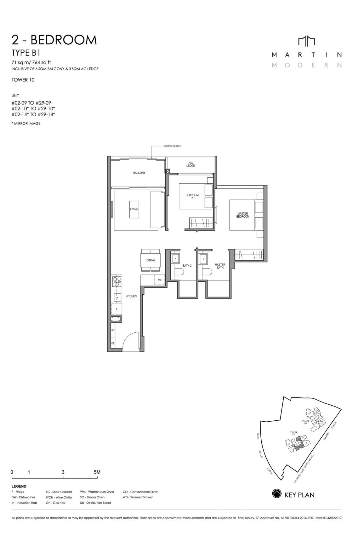 MARTIN MODERN 2-Bedroom TYPE B1
