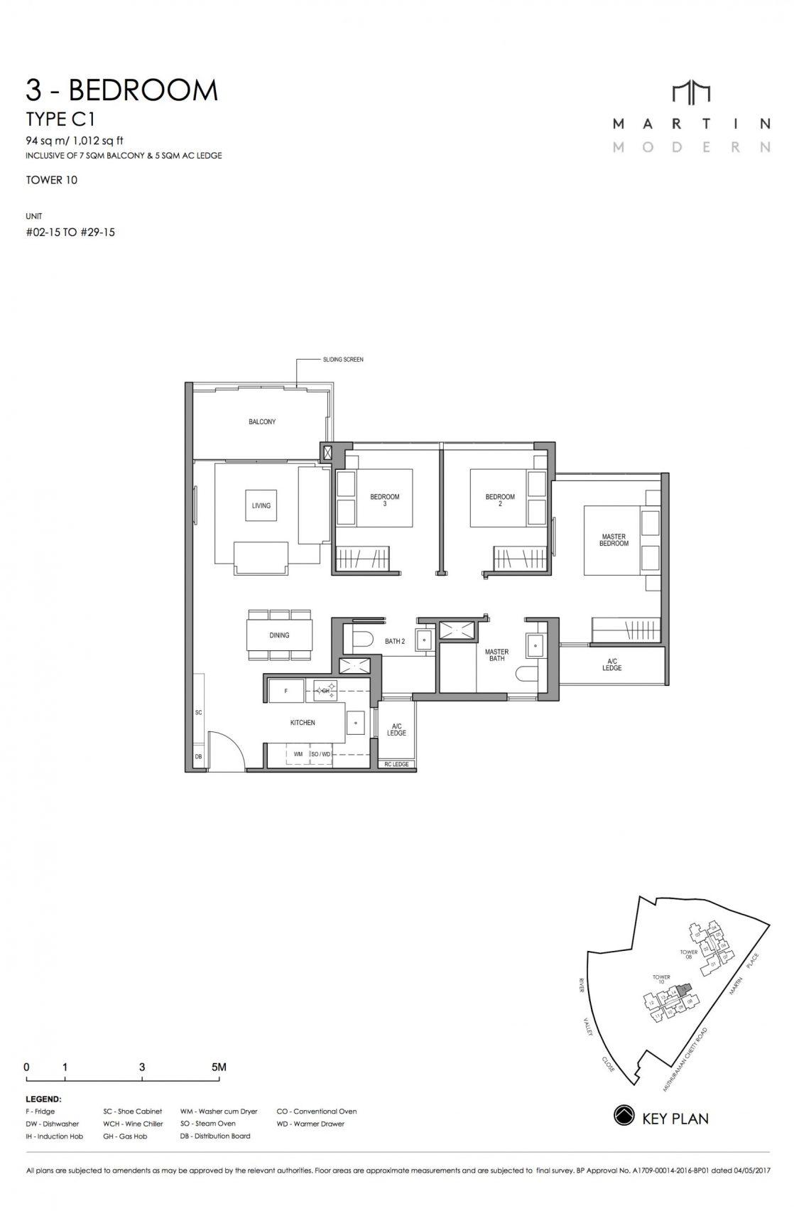 MARTIN MODERN 3-Bedroom TYPE C1