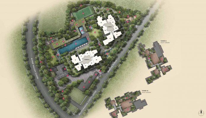 Martin modern condo site plan